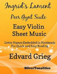 Cover Ingrid's Lament Peer Gynt Suite Easy Violin Sheet Music