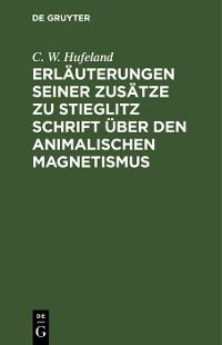 Cover Erläuterungen seiner Zusätze zu Stieglitz Schrift über den animalischen Magnetismus