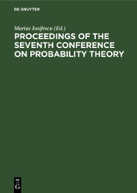 Cover Proceedings of the Seventh Conference on Probability Theory