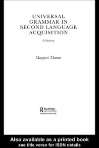 Cover Universal Grammar in Second-Language Acquisition