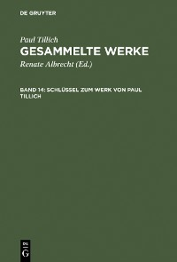 Cover Schlüssel zum Werk von Paul Tillich