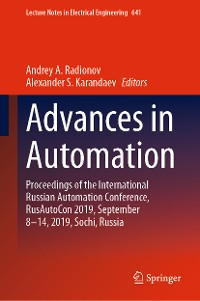 Cover Advances in Automation