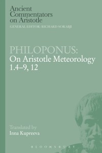 Cover Philoponus: On Aristotle Meteorology 1.4-9, 12