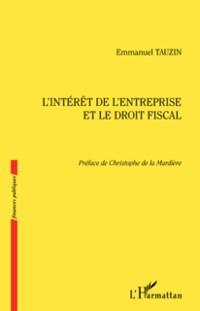 Cover L'interet de l'entreprise et le droit fiscal