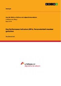 Cover Key Performance Indicators (KPIs). Personalarbeit messbar gestalten
