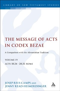 Cover Message of Acts in Codex Bezae (vol 4)