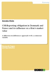Cover CSR-Reporting obligation in Denmark and France and its influence on a firm's market value