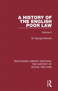 Cover History of the English Poor Law