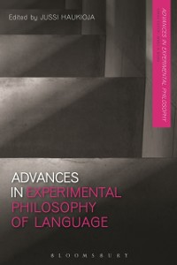 Cover Advances in Experimental Philosophy of Language