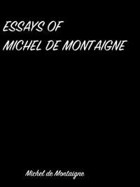Cover Essays Of  Michel De Montaigne
