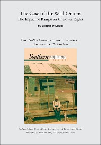 Cover The Case of the Wild Onions: The Impact of Ramps on Cherokee Rights