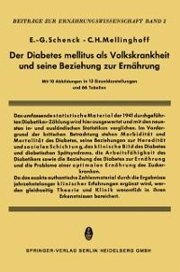 Cover Der Diabetes Mellitus als Volkskrankheit und seine Beziehung zur Ernahrung
