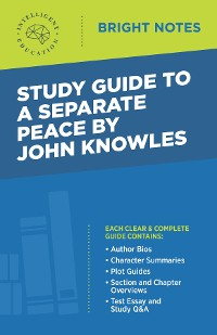 Cover Study Guide to A Separate Peace by John Knowles