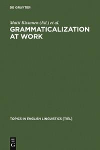 Cover Grammaticalization at Work