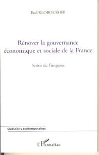 Cover Renover la gouvernance economique et soc