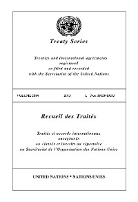 Cover Treaty Series 2884