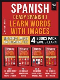 Cover Spanish ( Easy Spanish ) Learn Words With Images (Pack 1)