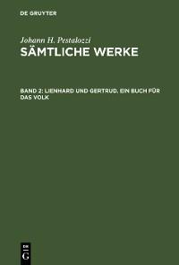 Cover Lienhard und Gertrud. Ein Buch für das Volk