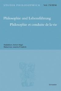 Cover Philosophie und Lebensführung Philosophie et Conduite de la vie