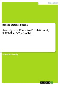 """Cover The Book """"The Hobbit"""" from J.R.R. Tolkien's. Reflection of the Romanian Translation"""