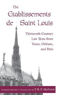 Cover The Etablissements de Saint Louis