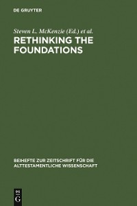 Cover Rethinking the Foundations