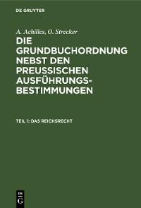 Cover Das Reichsrecht