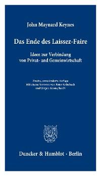 Cover Das Ende des Laissez-Faire.