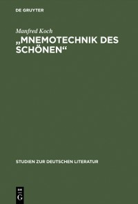 Cover &quote;Mnemotechnik des Schonen&quote;