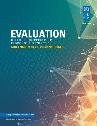 Cover Evaluation of the Role of UNDP in Supporting National Achievement of the Millennium Development Goals