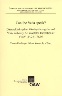 Cover Can the Veda speak?