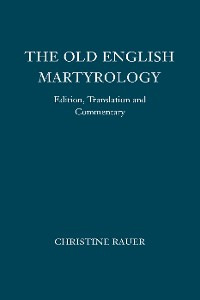 Cover The Old English Martyrology