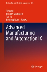Cover Advanced Manufacturing and Automation IX