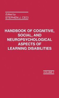 Cover Handbook of Cognitive, Social, and Neuropsychological Aspects of Learning Disabilities