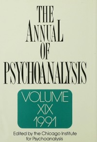 Cover Annual of Psychoanalysis, V. 19