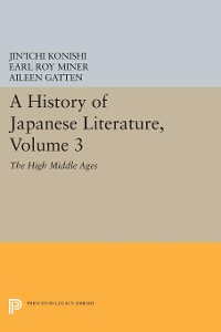 Cover A History of Japanese Literature, Volume 3