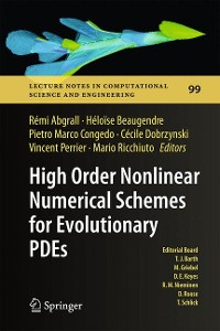 Cover High Order Nonlinear Numerical Schemes for Evolutionary PDEs