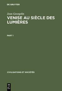 Cover Venise au siècle des lumières