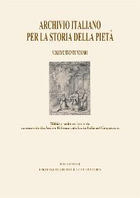 Cover Archivio italiano per la storia della pietà - XXXI