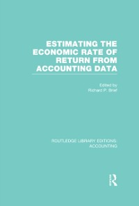 Cover Estimating the Economic Rate of Return From Accounting Data (RLE Accounting)