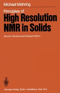 Cover Principles of High Resolution NMR in Solids