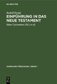 Cover Einführung in das Neue Testament