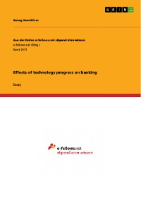 Cover Effects of technology progress on banking