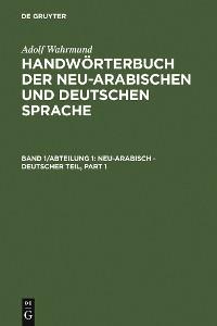 Cover Neu-arabisch - deutscher Teil