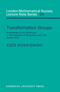 Cover Transformation Groups