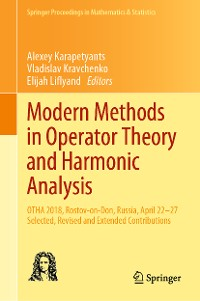 Cover Modern Methods in Operator Theory and Harmonic Analysis