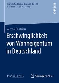 Cover Erschwinglichkeit von Wohneigentum in Deutschland