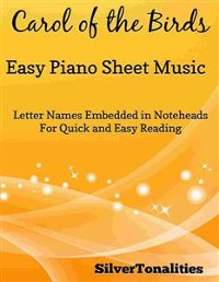 Cover Carol of the Birds Easy Elementary Piano Sheet Music