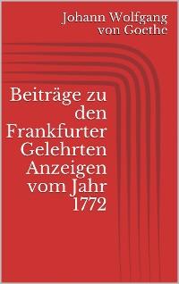 Cover Beiträge zu den Frankfurter Gelehrten Anzeigen vom Jahr 1772