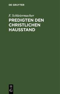 Cover Predigten den christlichen Hausstand